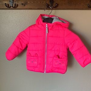 Pink puffy coat by Carters